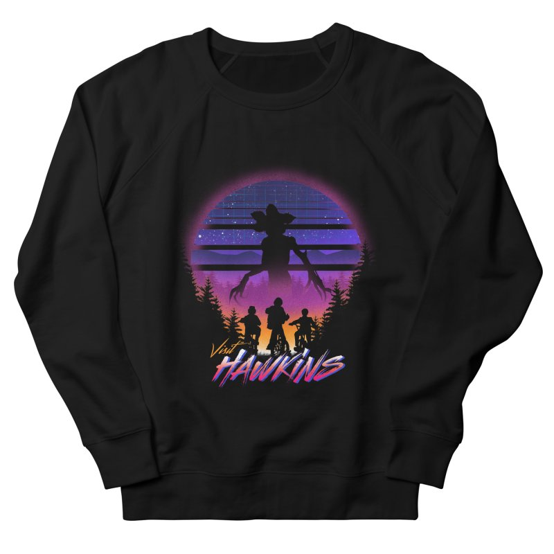 Visit Hawkins Men's French Terry Sweatshirt by dandingeroz's Artist Shop