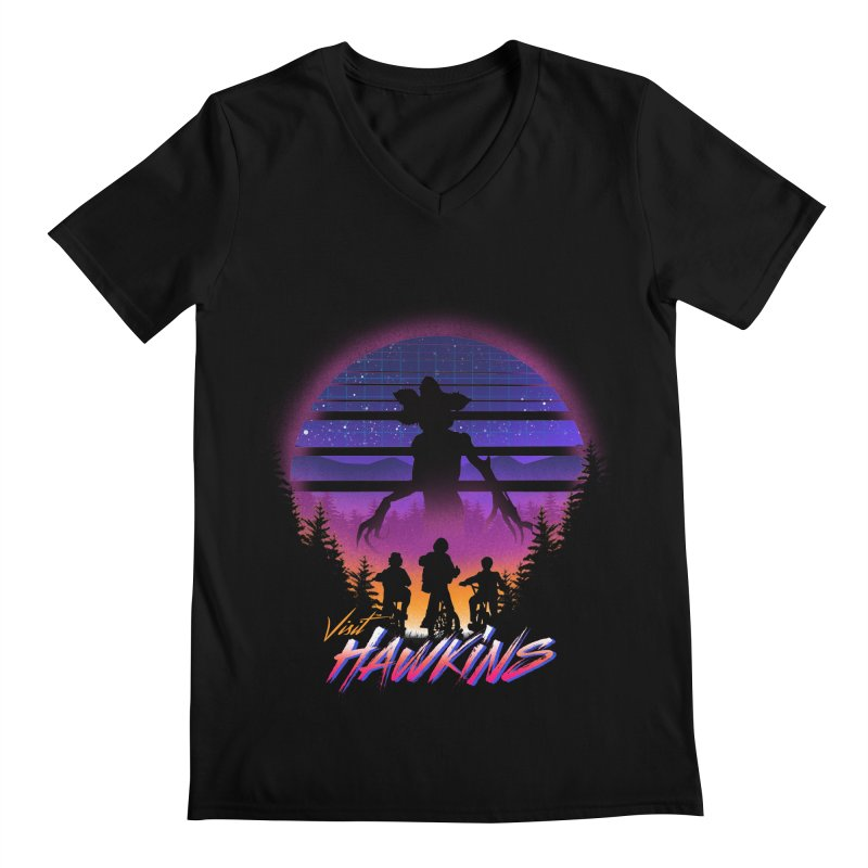 Visit Hawkins Men's Regular V-Neck by dandingeroz's Artist Shop