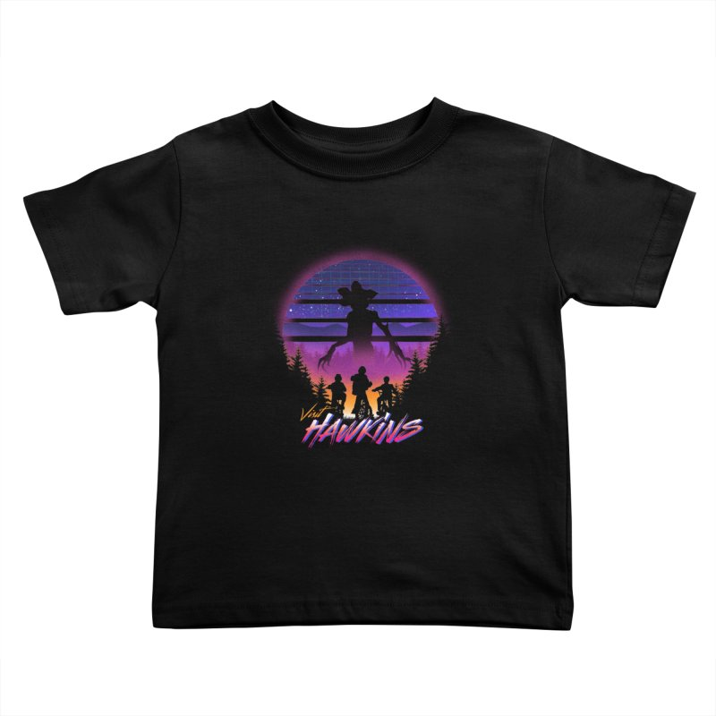 Visit Hawkins Kids Toddler T-Shirt by dandingeroz's Artist Shop