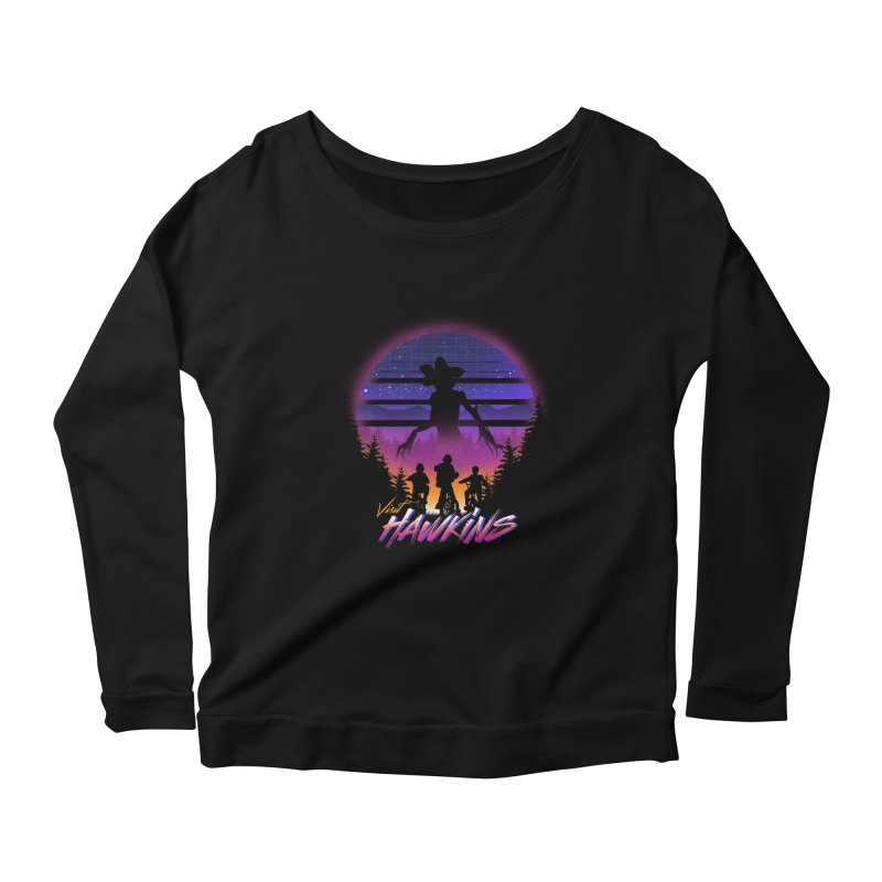 Visit Hawkins Women's Scoop Neck Longsleeve T-Shirt by dandingeroz's Artist Shop