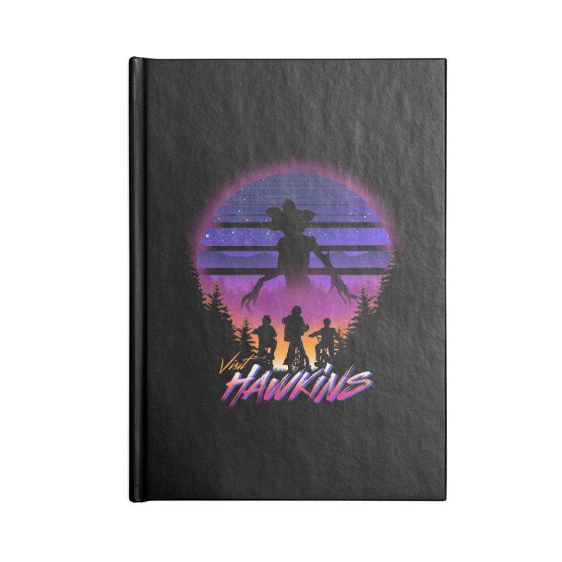 Visit Hawkins Accessories Lined Journal Notebook by dandingeroz's Artist Shop