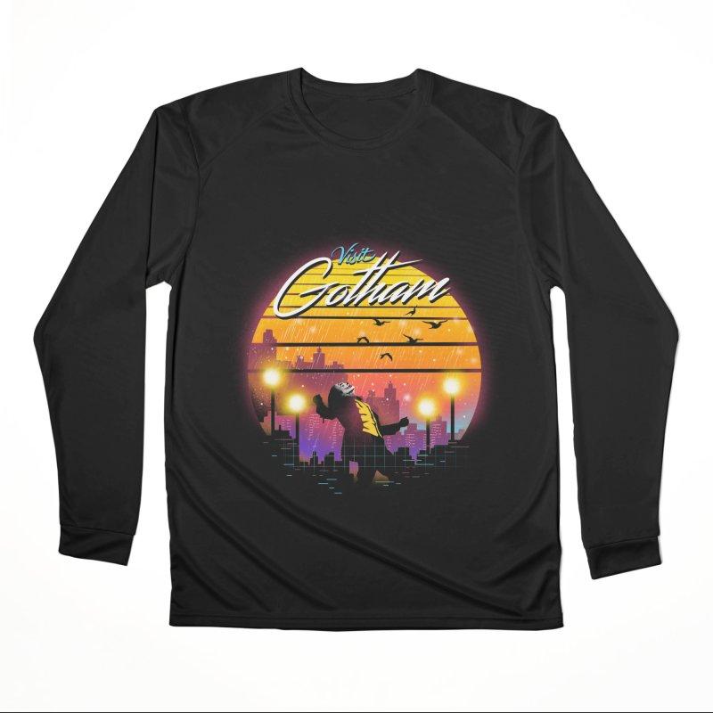 Visit Gotham Women's Performance Unisex Longsleeve T-Shirt by dandingeroz's Artist Shop