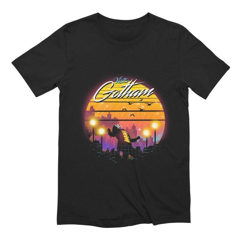 Visit Gotham Men's Extra Soft T-Shirt by dandingeroz's Artist Shop
