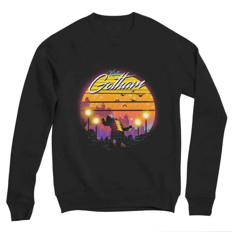 Visit Gotham Men's Sponge Fleece Sweatshirt by dandingeroz's Artist Shop