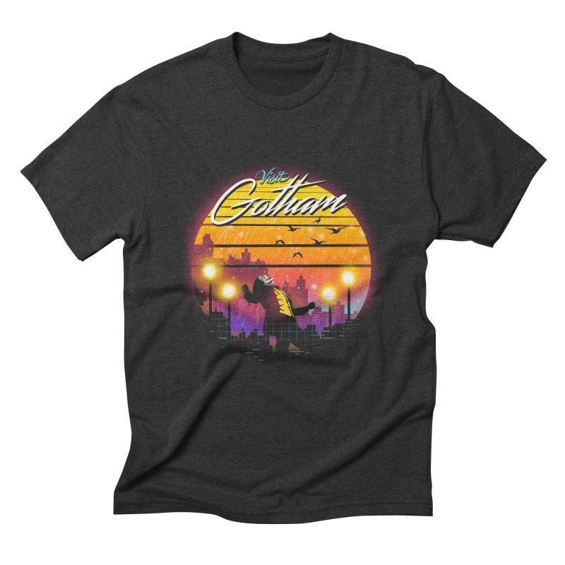 Visit Gotham Men's Triblend T-Shirt by dandingeroz's Artist Shop