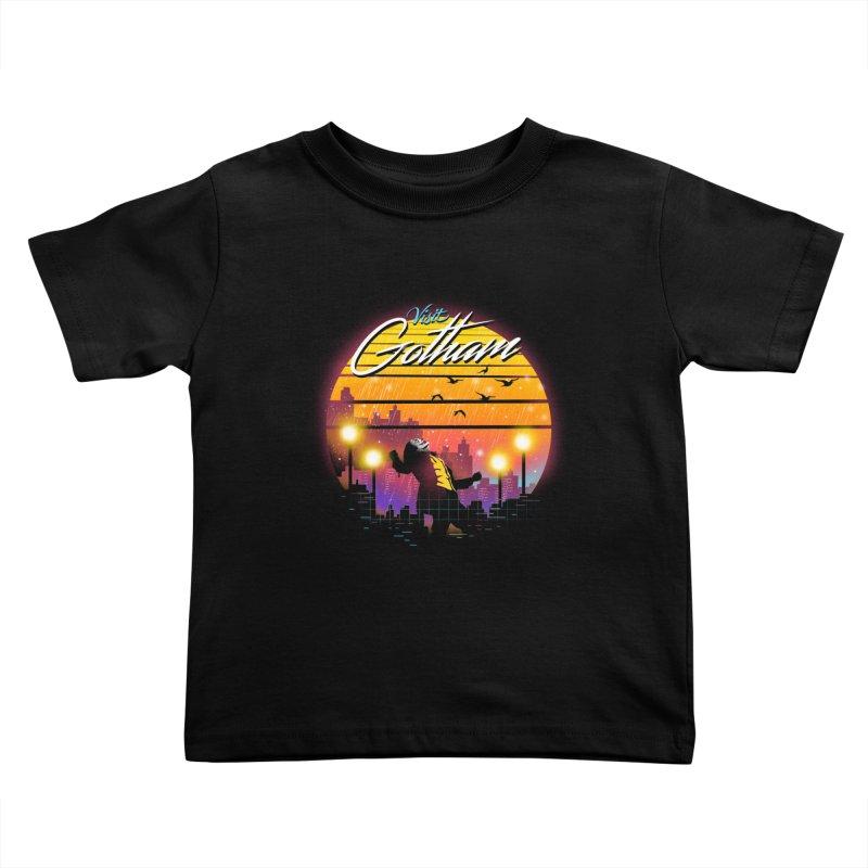 Visit Gotham Kids Toddler T-Shirt by dandingeroz's Artist Shop