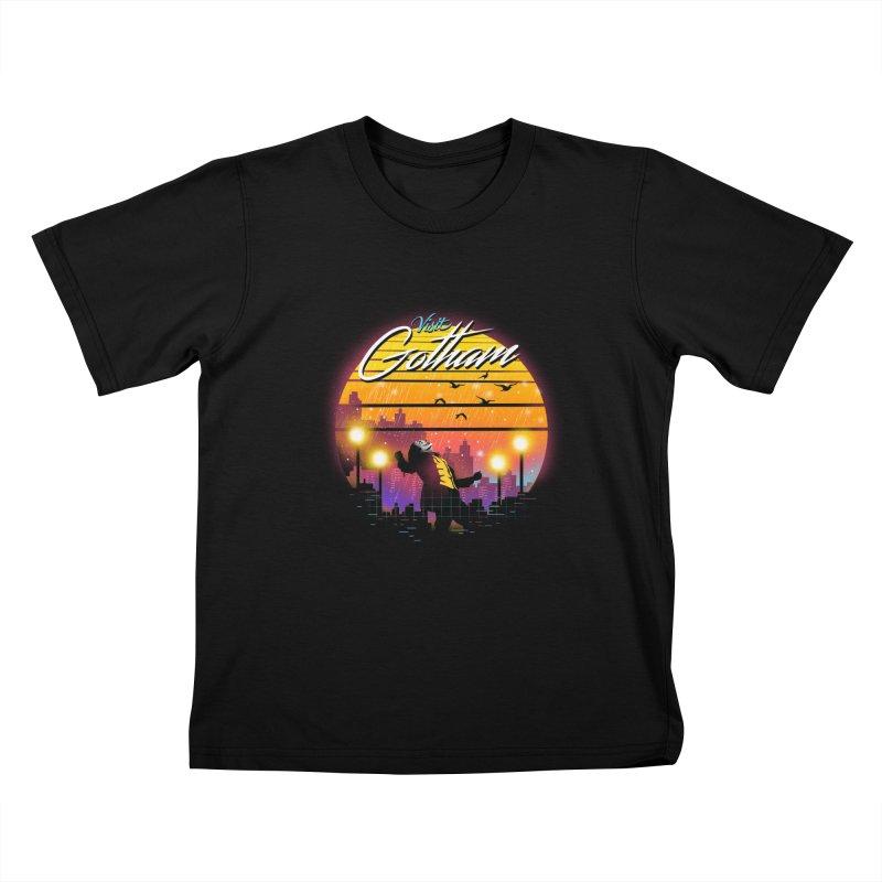 Visit Gotham Kids T-Shirt by dandingeroz's Artist Shop