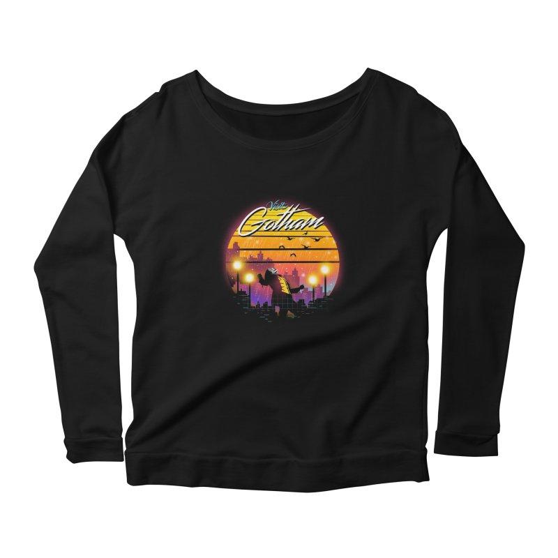 Visit Gotham Women's Scoop Neck Longsleeve T-Shirt by dandingeroz's Artist Shop
