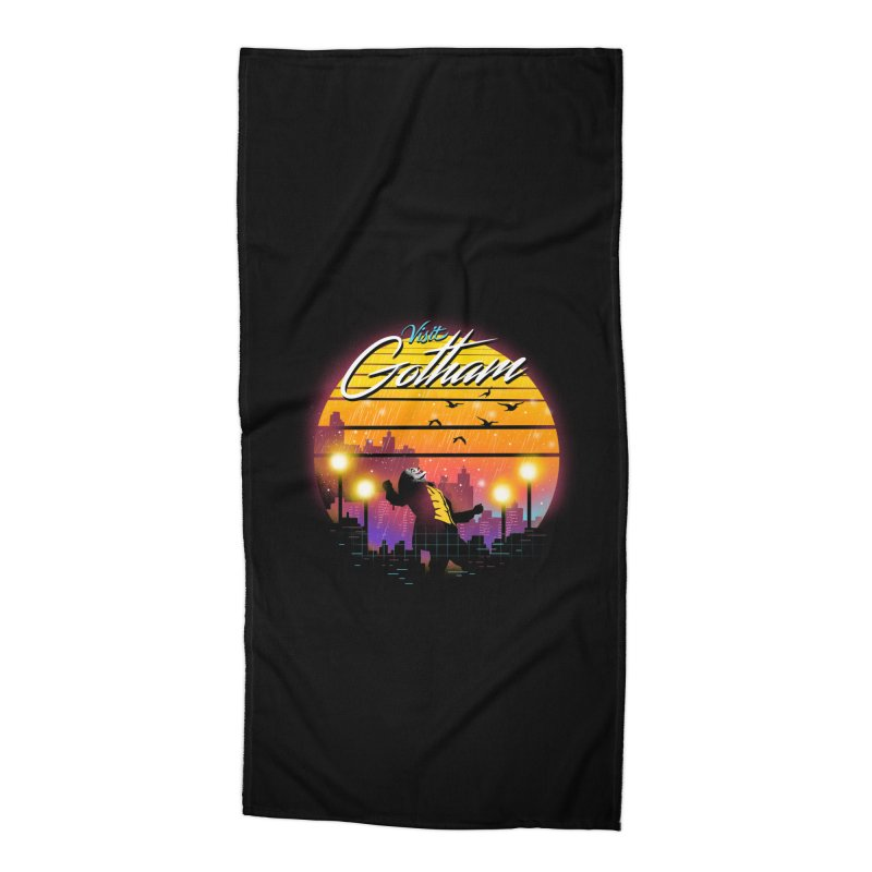 Visit Gotham Accessories Beach Towel by dandingeroz's Artist Shop