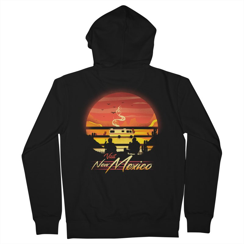 Visit New Mexico Men's French Terry Zip-Up Hoody by dandingeroz's Artist Shop