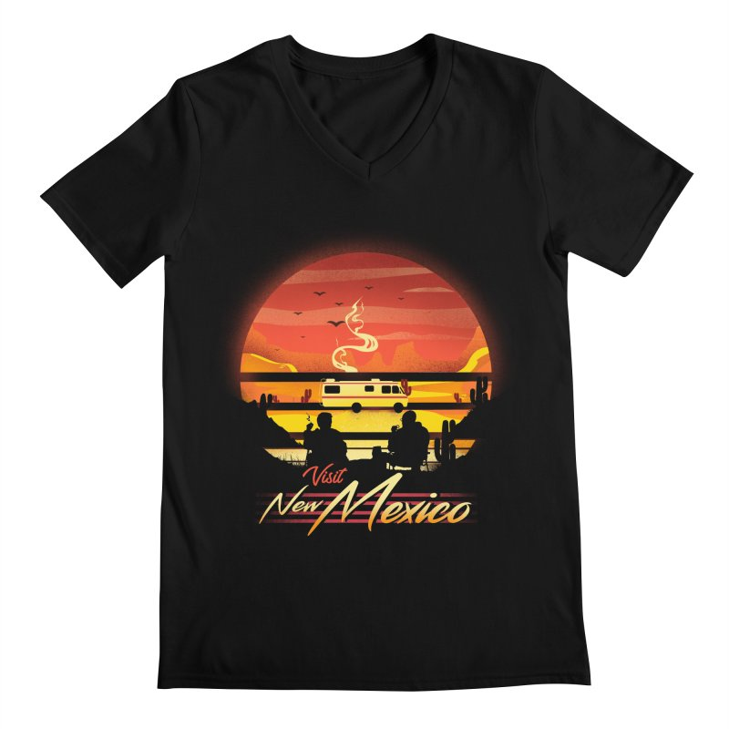 Visit New Mexico Men's Regular V-Neck by dandingeroz's Artist Shop