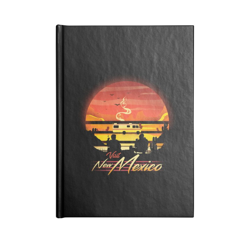 Visit New Mexico Accessories Lined Journal Notebook by dandingeroz's Artist Shop