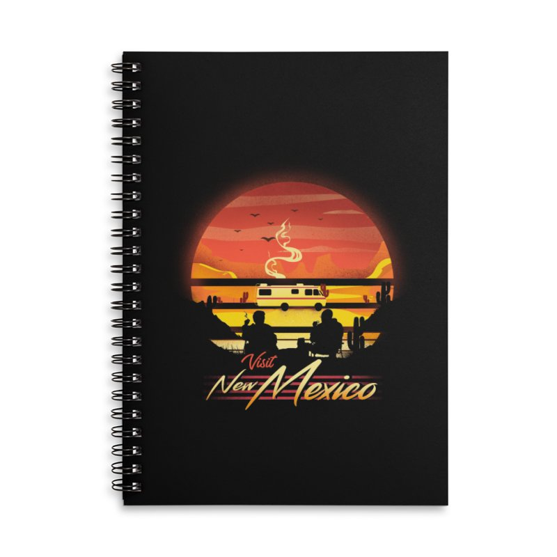Visit New Mexico Accessories Lined Spiral Notebook by dandingeroz's Artist Shop