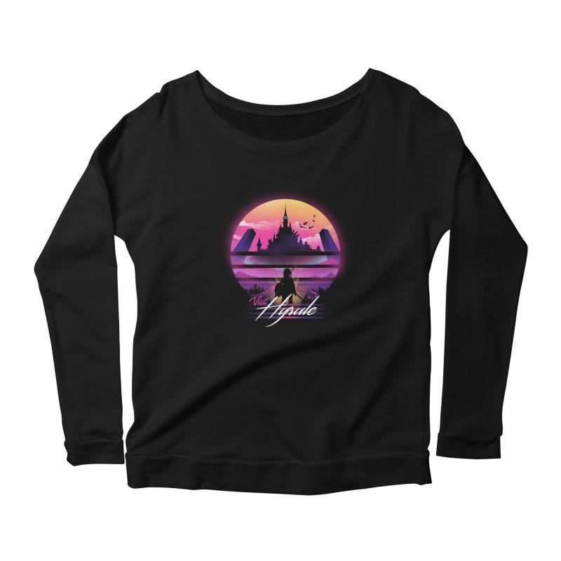 Visit Hyrule Women's Scoop Neck Longsleeve T-Shirt by dandingeroz's Artist Shop