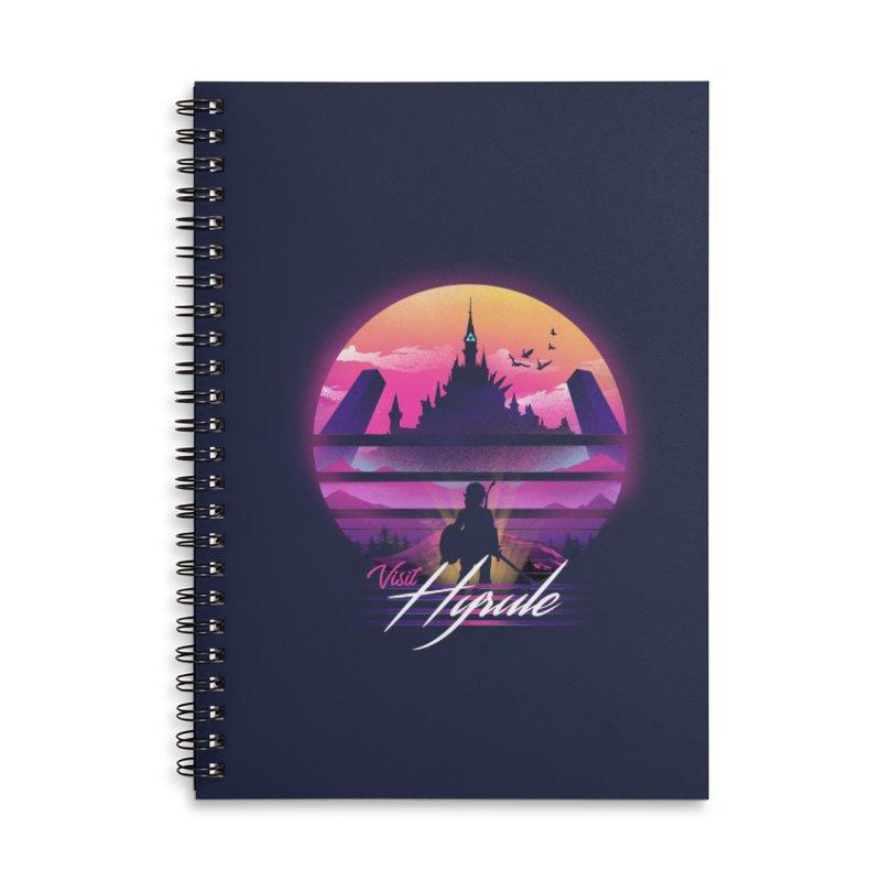 Visit Hyrule Accessories Lined Spiral Notebook by dandingeroz's Artist Shop