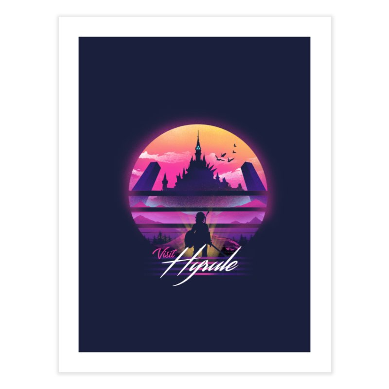 Visit Hyrule Home Fine Art Print by dandingeroz's Artist Shop
