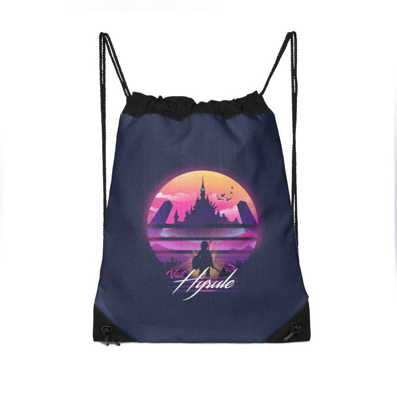 Visit Hyrule Accessories Drawstring Bag Bag by dandingeroz's Artist Shop