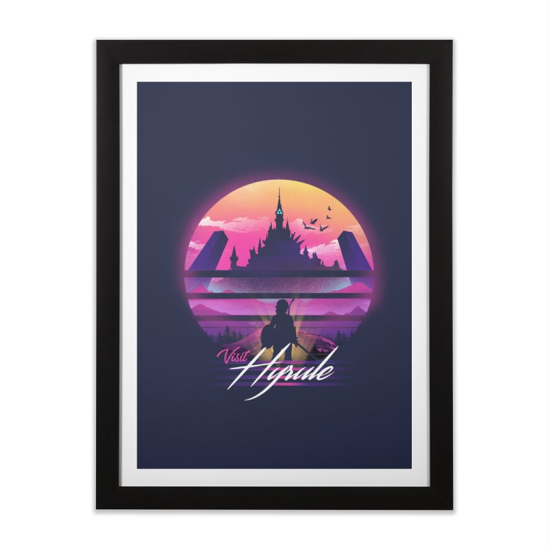 Visit Hyrule Home Framed Fine Art Print by dandingeroz's Artist Shop