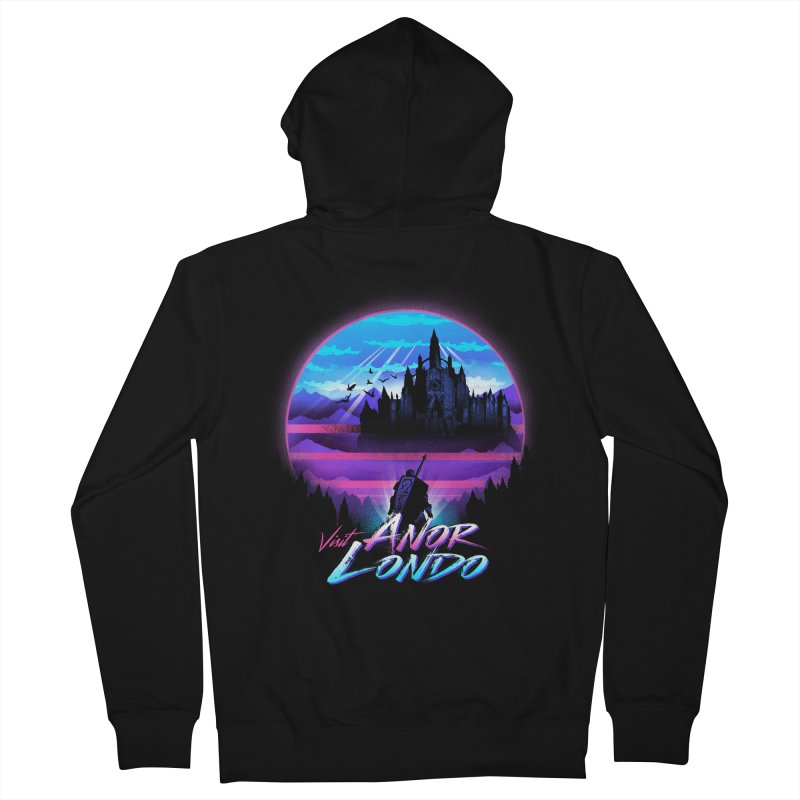 Visit Anor Londo Men's French Terry Zip-Up Hoody by dandingeroz's Artist Shop