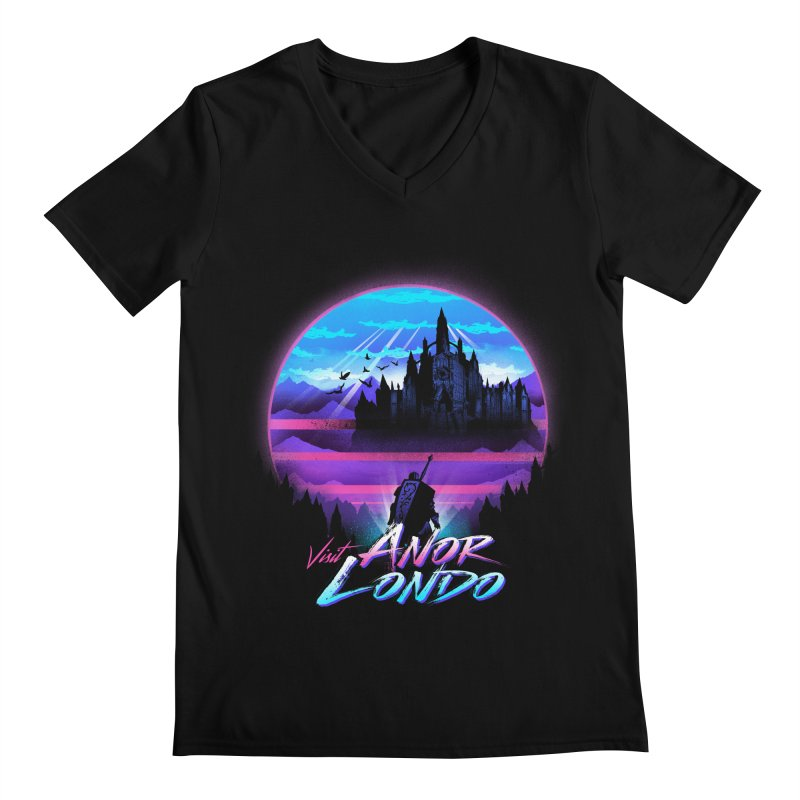 Visit Anor Londo Men's Regular V-Neck by dandingeroz's Artist Shop