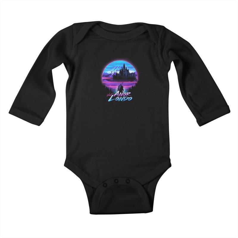 Visit Anor Londo Kids Baby Longsleeve Bodysuit by dandingeroz's Artist Shop