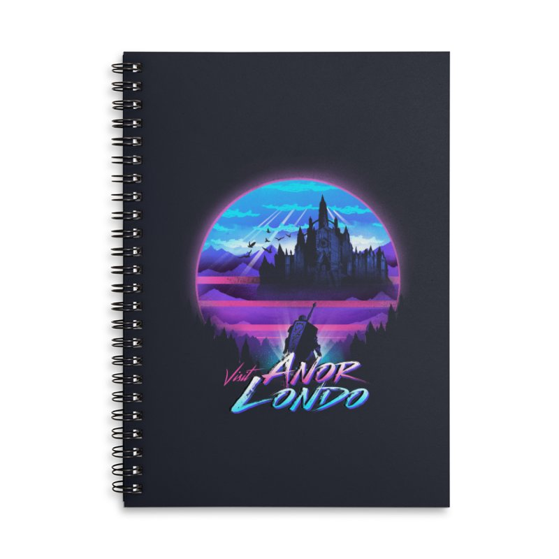 Visit Anor Londo Accessories Lined Spiral Notebook by dandingeroz's Artist Shop