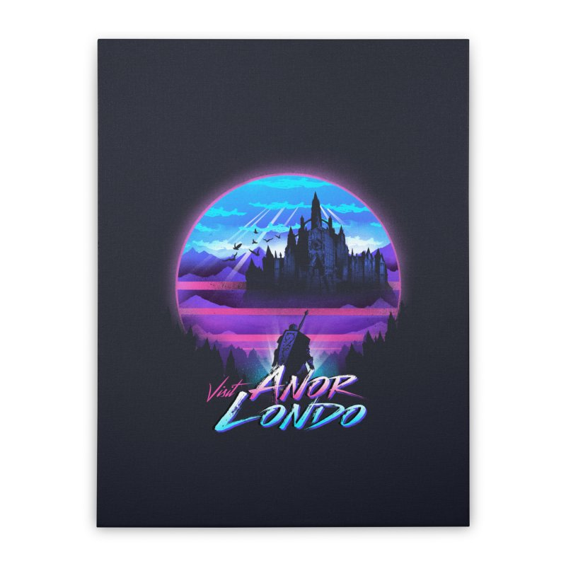 Visit Anor Londo Home Stretched Canvas by dandingeroz's Artist Shop