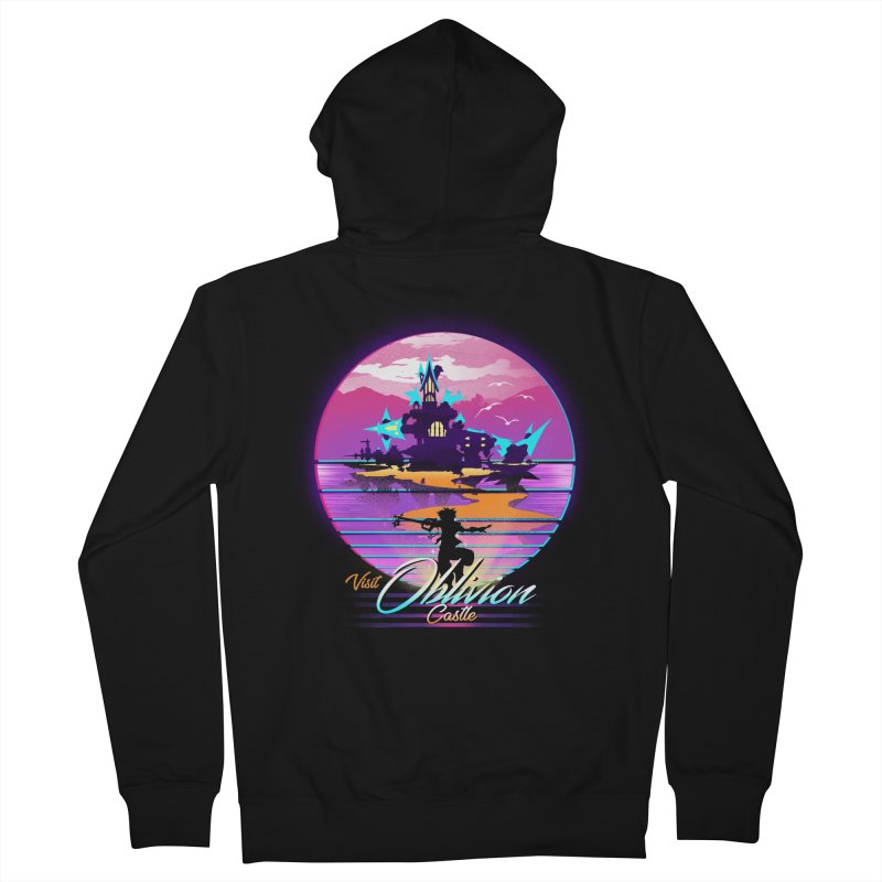 Visit Castle Oblivion Men's French Terry Zip-Up Hoody by dandingeroz's Artist Shop