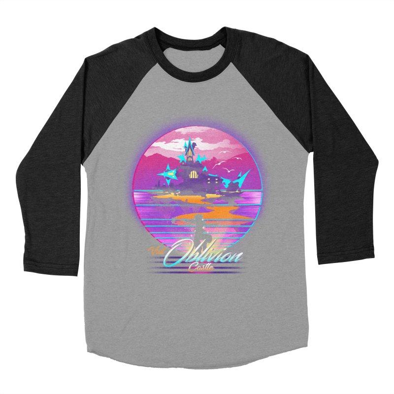 Visit Castle Oblivion Men's Baseball Triblend Longsleeve T-Shirt by dandingeroz's Artist Shop