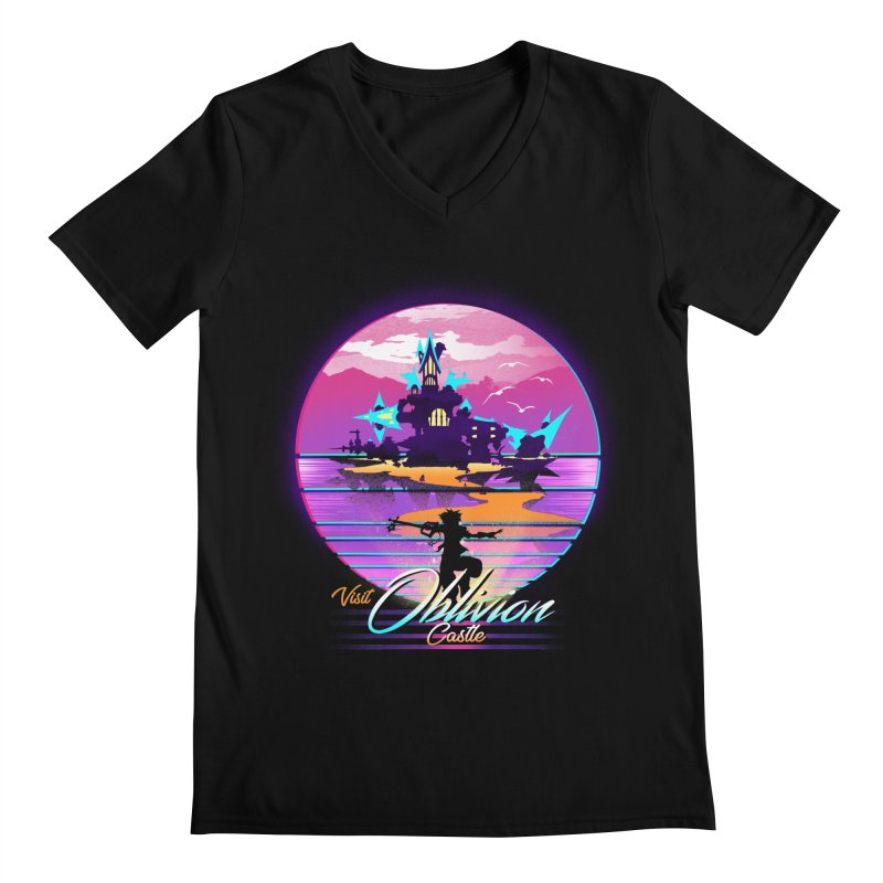Visit Castle Oblivion Men's Regular V-Neck by dandingeroz's Artist Shop