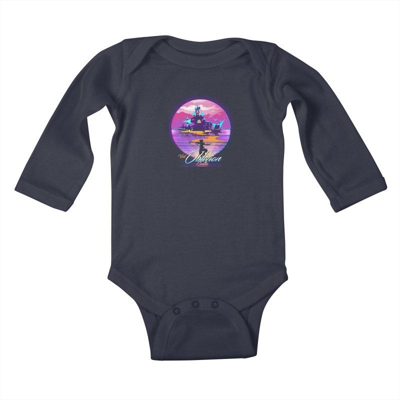 Visit Castle Oblivion Kids Baby Longsleeve Bodysuit by dandingeroz's Artist Shop