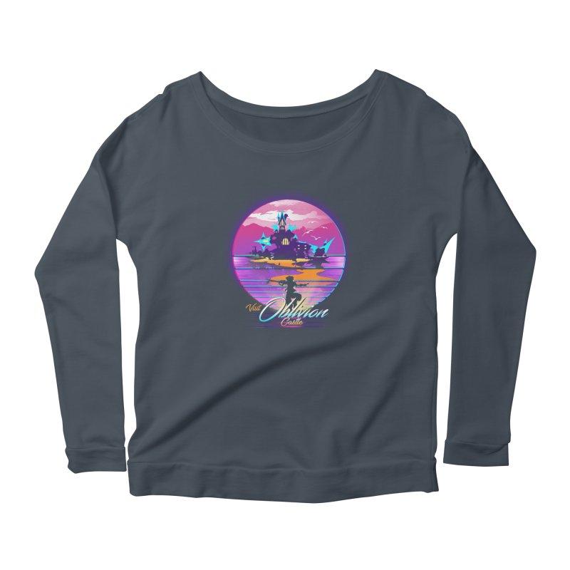 Visit Castle Oblivion Women's Scoop Neck Longsleeve T-Shirt by dandingeroz's Artist Shop