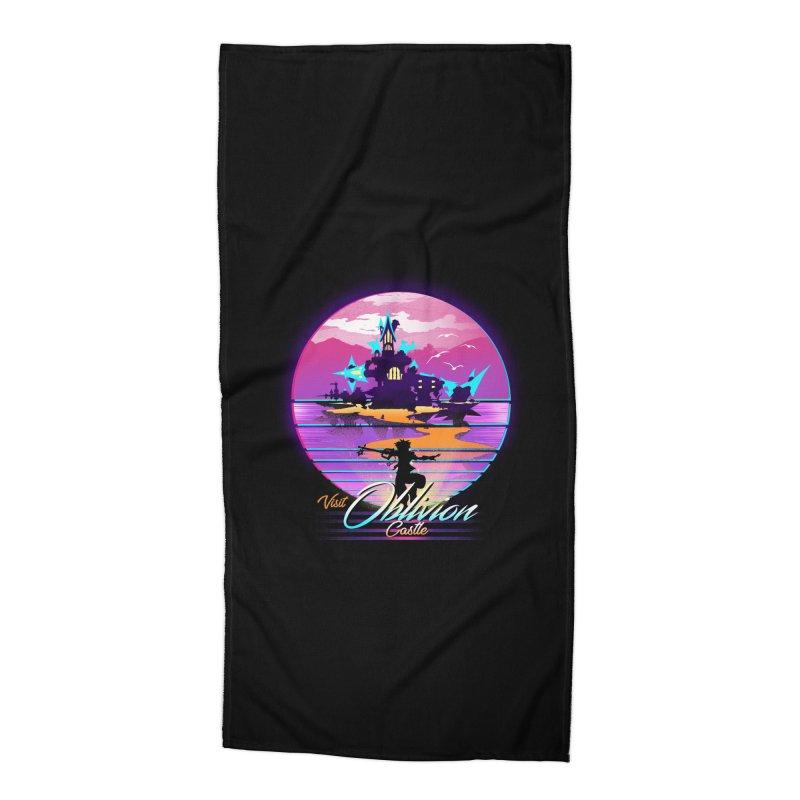 Visit Castle Oblivion Accessories Beach Towel by dandingeroz's Artist Shop