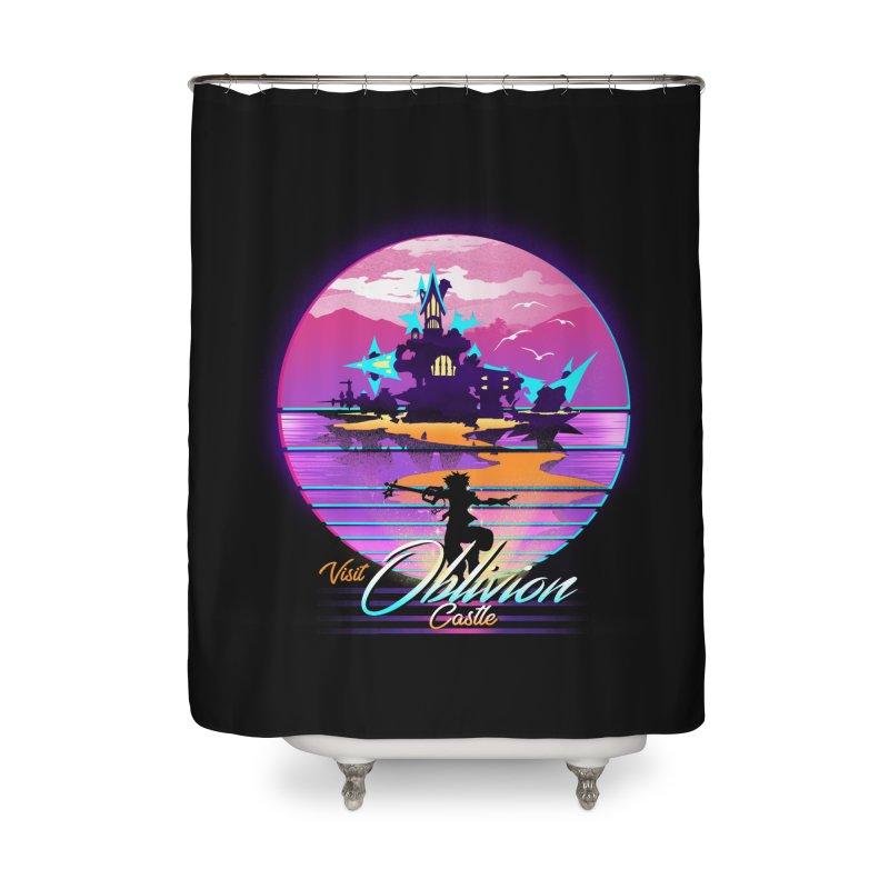 Visit Castle Oblivion Home Shower Curtain by dandingeroz's Artist Shop