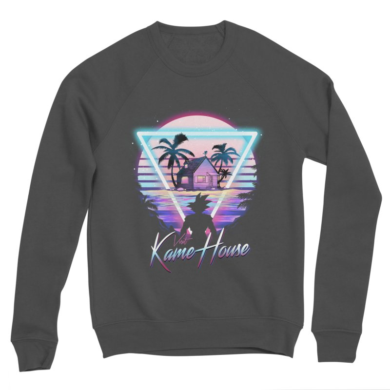 Visit Kame House Men's Sponge Fleece Sweatshirt by dandingeroz's Artist Shop