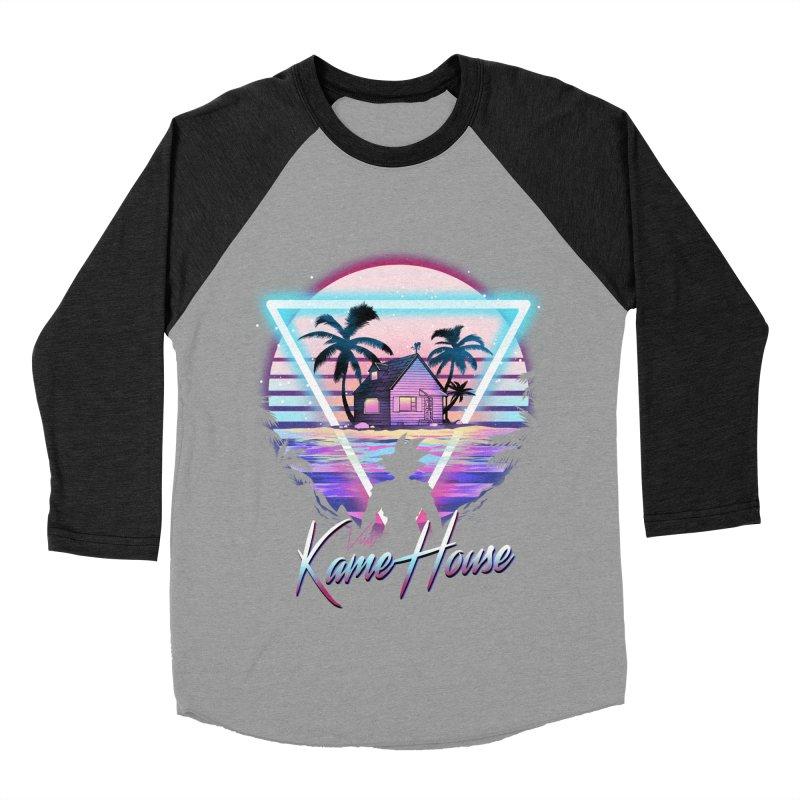 Visit Kame House Men's Baseball Triblend Longsleeve T-Shirt by dandingeroz's Artist Shop