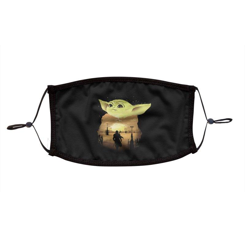 Baby Yoda Sunset Accessories Face Mask by dandingeroz's Artist Shop