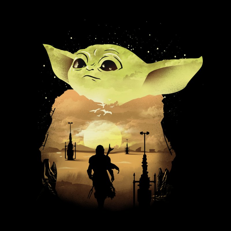 Baby Yoda Sunset Men's T-Shirt by dandingeroz's Artist Shop
