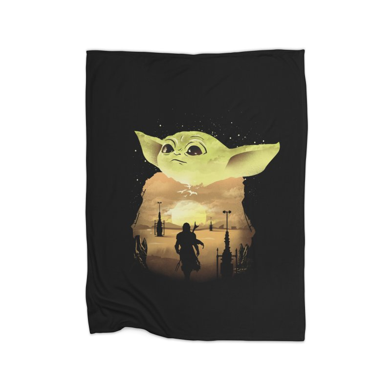 Baby Yoda Sunset Home Blanket by dandingeroz's Artist Shop