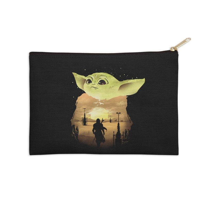 Baby Yoda Sunset Accessories Zip Pouch by dandingeroz's Artist Shop