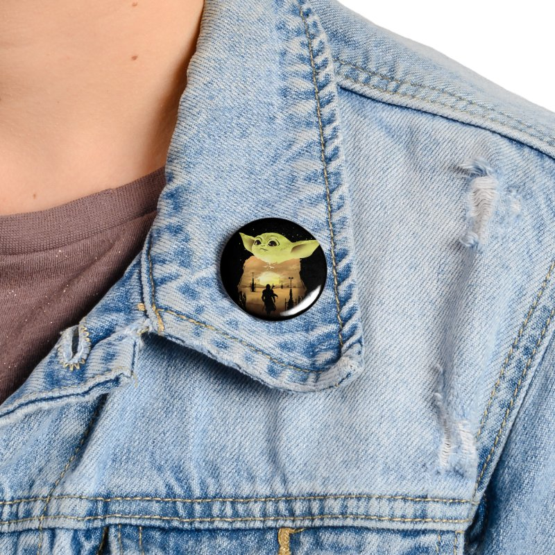 Baby Yoda Sunset Accessories Button by dandingeroz's Artist Shop