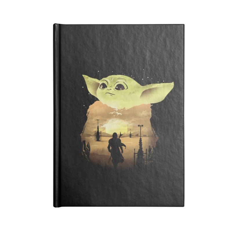 Baby Yoda Sunset Accessories Notebook by dandingeroz's Artist Shop