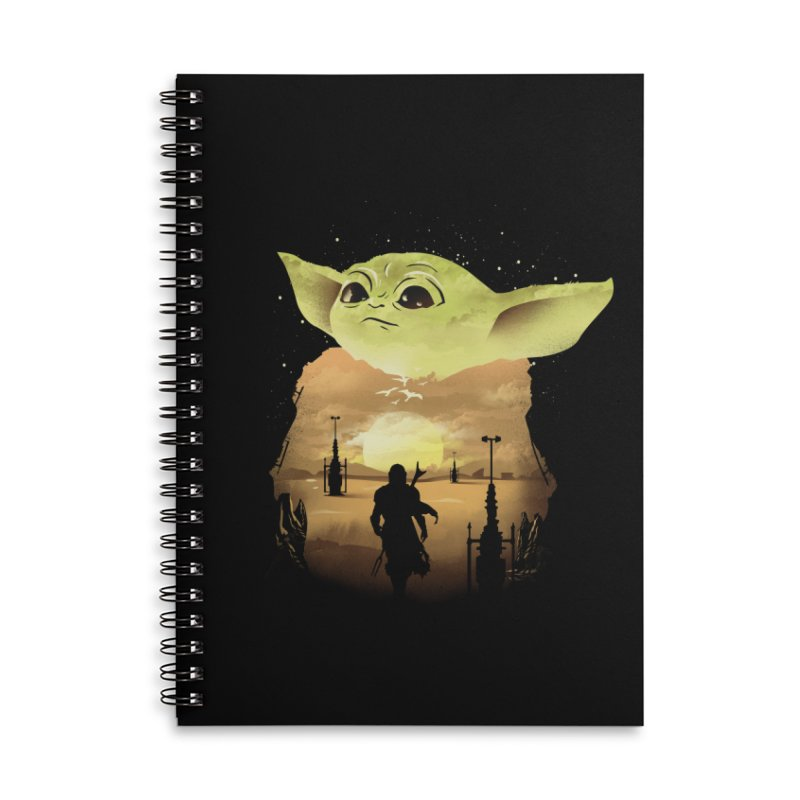 Baby Yoda Sunset Accessories Notebook by dandingeroz's Artist Shop