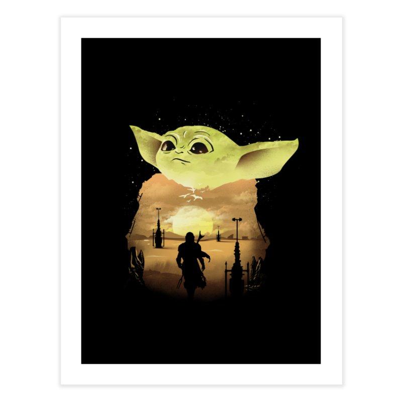 Baby Yoda Sunset Home Fine Art Print by dandingeroz's Artist Shop