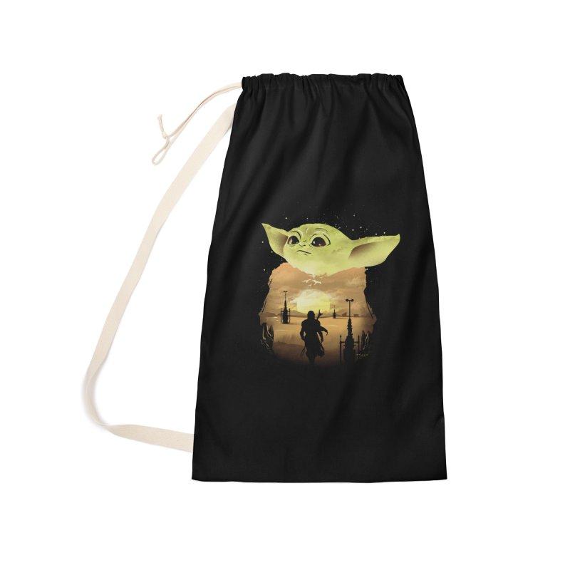 Baby Yoda Sunset Accessories Bag by dandingeroz's Artist Shop