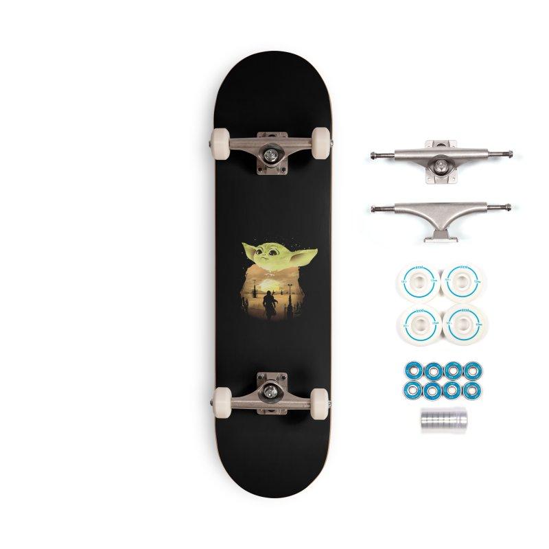 Baby Yoda Sunset Accessories Skateboard by dandingeroz's Artist Shop