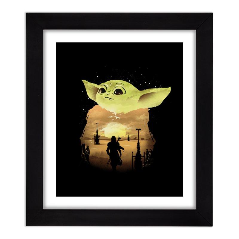 Baby Yoda Sunset Home Framed Fine Art Print by dandingeroz's Artist Shop