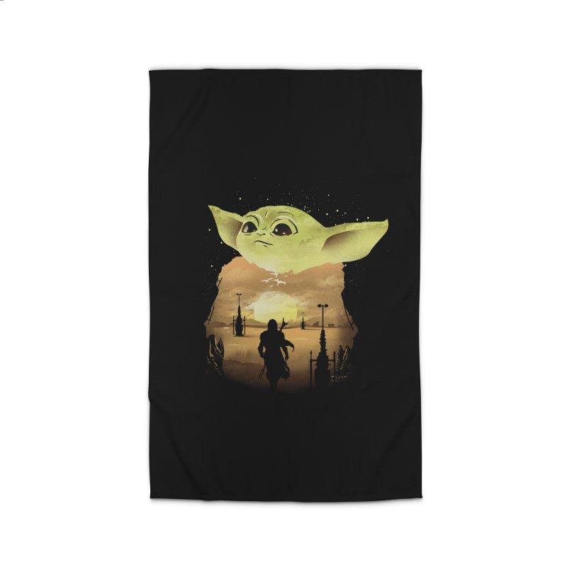 Baby Yoda Sunset Home Rug by dandingeroz's Artist Shop