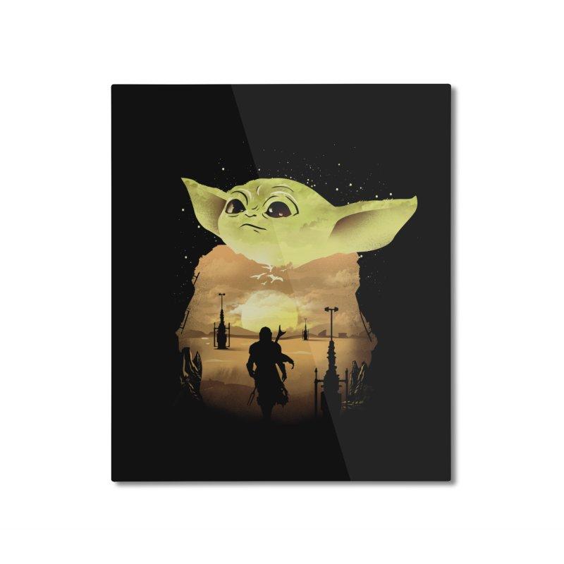 Baby Yoda Sunset Home Mounted Aluminum Print by dandingeroz's Artist Shop
