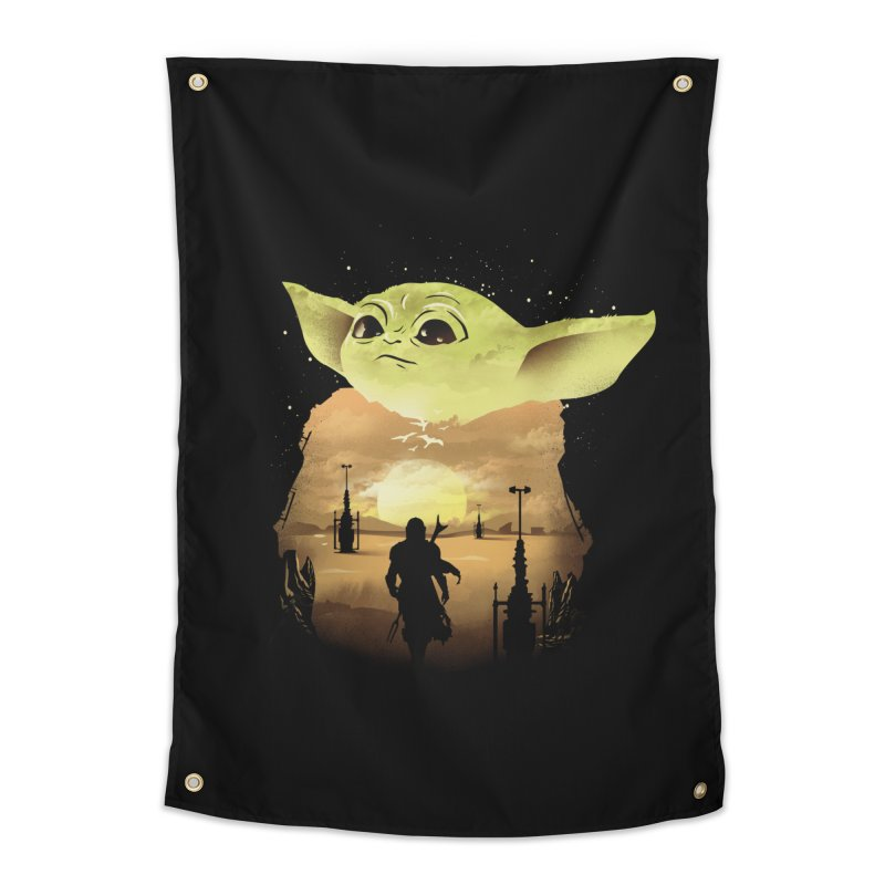 Baby Yoda Sunset Home Tapestry by dandingeroz's Artist Shop